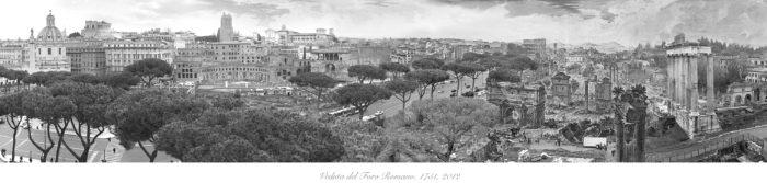 Veduta del Foro Romano 1751, 2012