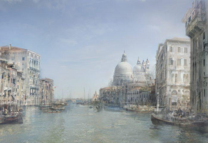 Looking down the Grand Canal to Palazzo Corner della Ca' Grande and Santa Maria della Salute, 1840, 2010