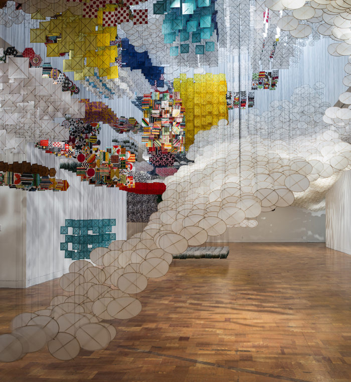 "Jacob Hashimoto, ""Gas Giant"", MOCA Pacific Design Center, 2014"